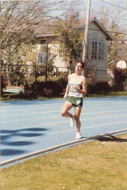 Running at Tulane University, soooooo many pounds ago.